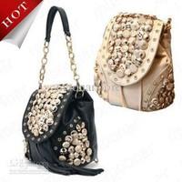 cheap promotion rivets spring summer bags mochila 2 Ways Use Women's Button Embellish Shoulder Bags violetta Casual Purse B500