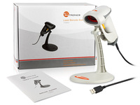 TaoTronics High Quality USB Handheld Visible Laser Barcode Scanner Portable Scan Reader + Holder Stand,White, Free Shiping