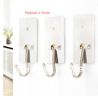 fashion Han edition traceless Stainless Steel strong chuck a package of 3,over the door hooks/s hooks/wall hooks,1 pcs/lot