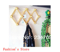 creative flexible,folding,Bamboo,10 hook tied together,bedroom furniture/over the door hooks/s hooks/wall hooks,1 pcs/lot