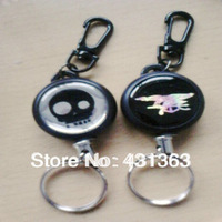 Retractable Flexible Steel Wire Rope Military Style Strangled Survival Key Chain Ring