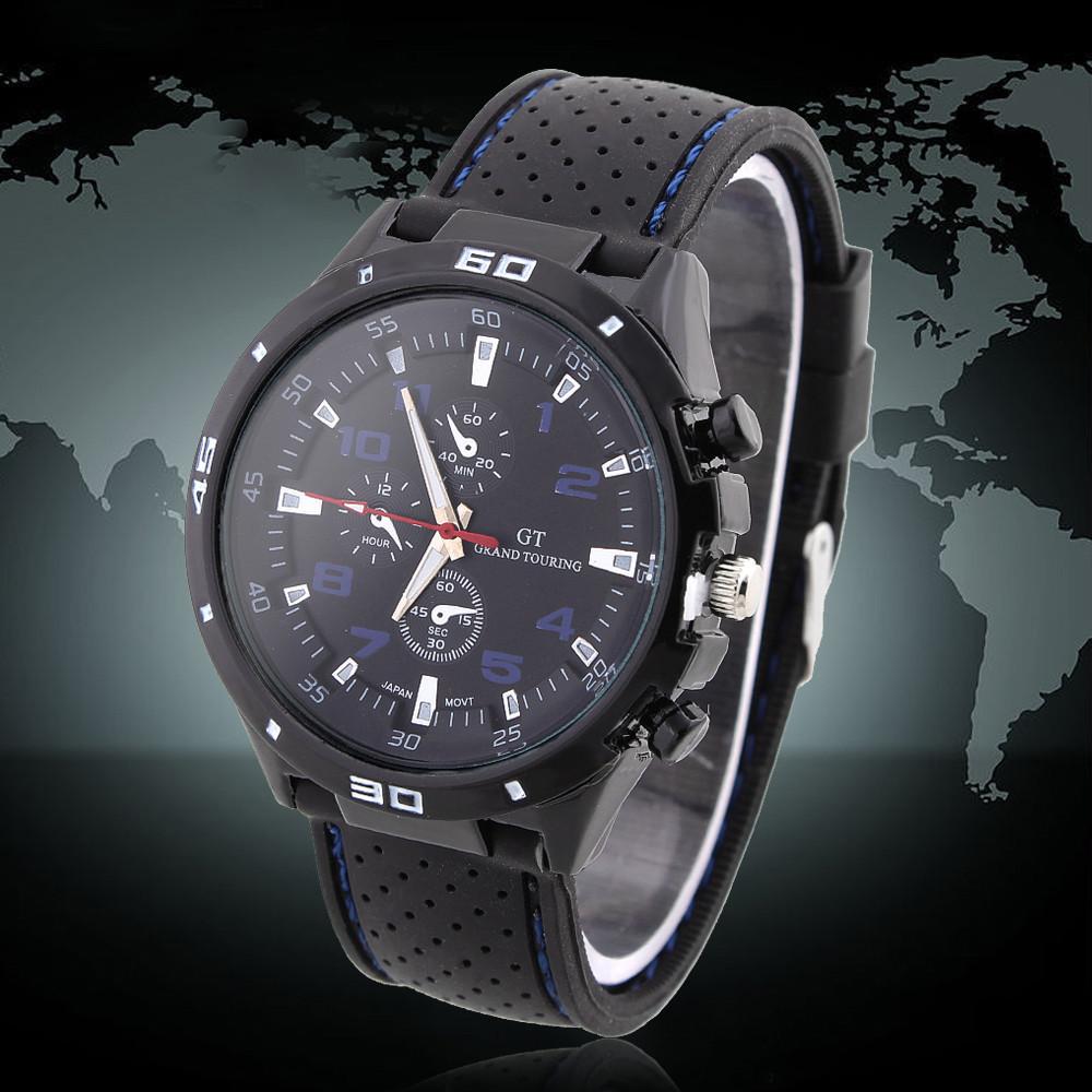 Rubber Strap Silicone Watch F1 GT Men's Sports watch women Casual watches Cycling Analog wristwatch Dropship Free shipping(China (Mainland))