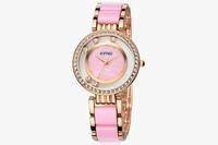 Eyki Kimio Ceramic Watch Women Brand Fashion Ladies High-end Crystal Diamonds Hour clock Free Shipping