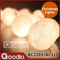 christmas lights luminarias home decoration,garland string lights,AC110V/220V with 20pcs bulb ball,christmas outdoor decoration