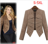 New Fashion Europe Spring Women's leather Coat Plus Size/Large Size Leather Coat  XXXXL Free Shipping