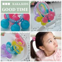 2014,  girls /baby /kids/children Phone Strap with ball  hair accessories/headwears