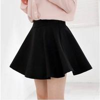 21 Colors!2014 Women Shorts Candy Color Pleated Chiffon Skirt Elastic High Waist Ball Gown Mini Skirt Spring Summer Women Skirt