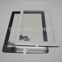 5pcs/lot High Quality Touch Screen Digitizer Complete with Home Button and Flex for iPad 2 Free Shipping