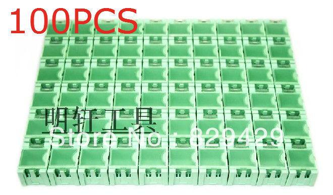 1 # IC original box SMD chip components interlocking parts can patch box Anti-static Black Orange pink yellow green 50pcs/lot(China (Mainland))