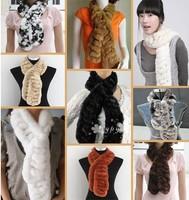 2013 Super sell well fashion warm new best Rex rabbit fur scarfs shawls