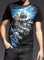 Men's Clothing Tops $Tees 100% Cotton World Of Warcraft Men's Black Casual T Shirt Full Sleeves Blizzard Dota Illidan 230