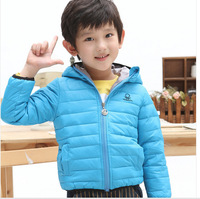 2014 Hot Sale New Coats And Jackets for Children Winter Kids Down & Parkas Jacket Outerwear Lake / Navy 3/4/6/8/10 Years Old