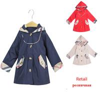 Retail Brand Girls trench coat  Children's Outerwear spring new 2014 Brands trench coat for girl  kids Girl overcoat #68131