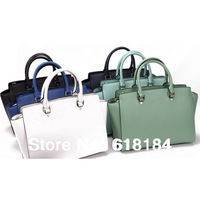 Free shipment 2013 new fashion hot selling high quality PU faux leather selma Criss-Cross woman handbags famous name tote bags