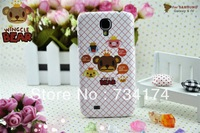Retail and wholesale Crown bear phone cover for samsung galaxy S4 case I9500 ABS slim 22series Water/dirt/shockproof