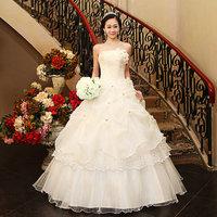 2014 New Arrival Elegant Bridal Flower Wedding Dress, Off The Shoulder Princess Dress 11HS22