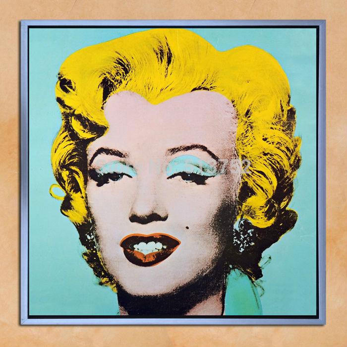 캔버스에 유화 거실 벽 사진 마릴린 먼로 홈 장식 손 색칠 팝 ...