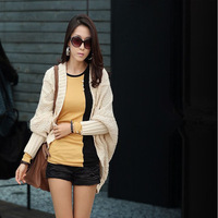 Free shipping 2013 fashion  women's tops O-neck patchwork T-Shirt  ,long-sleeve slim basic T shirt women clothes