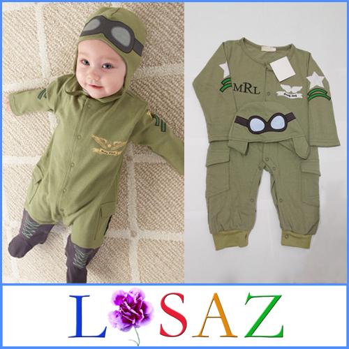 Fashion Pilot Baby Rompers Autumn Newborn Kid Costume Romper Baby Clothing(China (Mainland))