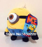 Free shipping Hot Sale 3D eye Despicable me minions Plush Toys Kids Christmas gift 20cm 8inch Mini Minion toy