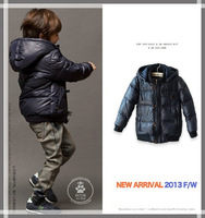 High quality  New 2013 winter boys outerwear, boys down coat children winter jacket, children outerwear & coats Free shipping