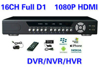 New ! CCTV DVR 16 Channel Full D1 Hybrid DVR Standalone H.264 HDMI 16CH CCTV Network Video Recorder Home Security iPhone View