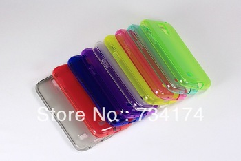 New 2013 phone cover for samsung galaxy S4 case I9500 N7100 9300 TPU  colorful transparent slim soft water/dirt/shock proof