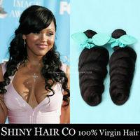 1 Bundle Peruvian Virgin Hair Loose Wave Natural Black 6A Unprocessed Human Hair Weave King Hair Wowigs Virgin Brazilian Hair