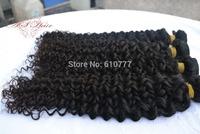 "4 Bundles Malay-sian Vir-gin Curly Hair Weft 12""-30""  hu-man hair extensions weaves free shipping"