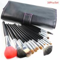 High Quality Kolinsky Hair Makeup Brushes Kit 16 pcs/set Cosmetic Tools Free Shipping