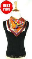[Twill Silk Scarf]100% Mulberry silk fabric/55cm*55cm square scarf/Fashion triangle scarf/High quality/55F-6