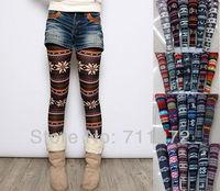 2014 New Bestselling Women's snowflake pants 20styles Christmas Snow Leggings Lady Autumn Winter free shippig