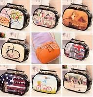 Winter New 2014 Small  Candy Color Leather bags Women Messenger Bags  Girls Handbag Shoulder Bag