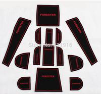 SUBARU forester 2013 / 2014 / 2015 Gate slot pad rubber car-cup mat/pad non-slip mat