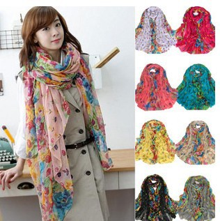 Korean female models Winter Garden Floral scarves scarf shawl scarf sun flowers blooming beach towel(China (Mainland))