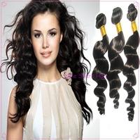 Free shipping Remy brazilian virgin hair extensions spanish wave,100% virgin hair 3/4pcs lot 300g or 400g,cheap unprocessed hair