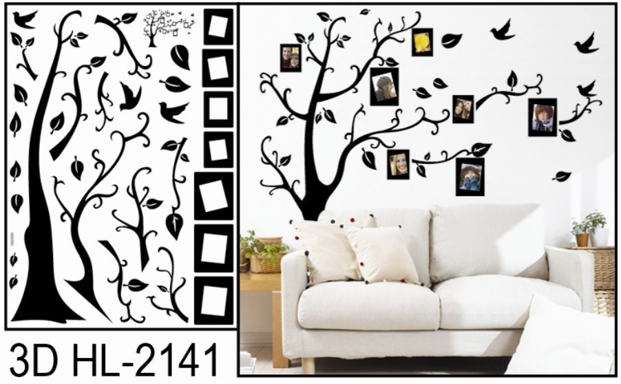 Family tree wall mural promotion online shopping for for Diy family tree wall mural
