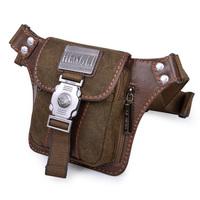 Men Canvas Small Waist Packs Fanny Pouch Belt Pack Male Shoulder Travel Mini Messenger Bag Tactical Black Army Coffee 2 Colors