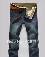 100% cotton Brand new men jeans denim pants  men's straight jeans slim skinny denim trousers