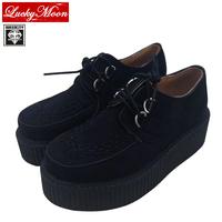 HARAJUKU Style ViVi New 2014 Flats Women  Round Toe Creepers High Platform  Velvet Brand Fashion Creeper Shoes EU34~40
