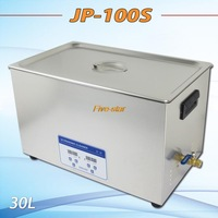 Free Shipping AC110V/220V  40KHz 600W JP-100S Ultrasonic Cleaner 30L drainage valves for hardware parts, PCB,medical washing