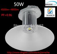50w High Bay Light fixture industrial lighting warehouse light Sosen driver 3 years warranty bridgelux chip DHL free shipping