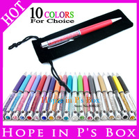 20pcs/lot retail office gifts lover colleague customer advertising business promotion 20 colors with crystal ballpoint pen