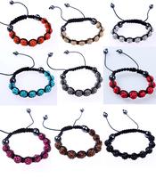 ZH0717 Good Quality Shamballa Bracelets & Bangles Pave 8mm Crystal AB Clay Ball(9Pcs) Shambhala Bracelet