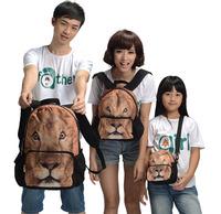 Family bag children's bag, lion print , animal mochila backpack school bag, free shipping bags kids, satchel China