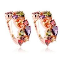 Multi Free shipping 2014 Fashion Korean Style Rhinestone Crystal Zircon Earrings For Women Girl's Fashion