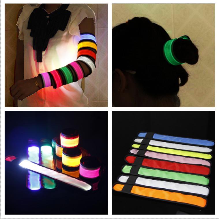 LED Armbands Reflective Bands Flashing Safety Velcro Arm Bands Bicycle ArmBands(China (Mainland))