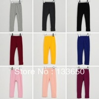 2013 new Spring Autumn children's clothing wholesale colors girls' leggings kids pants 5PCS/Lot Free shipping