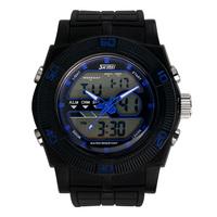 colorful digital clock led Male sport watch dual display outside fashion waterproof electronic watch male led multifunctional