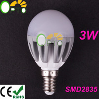 6 pcs/lot New year free shipping 220V 230V 240V Spotlight E14 3W LED Energy Saving bulb lamp light SMD 2835 warm white/white G45
